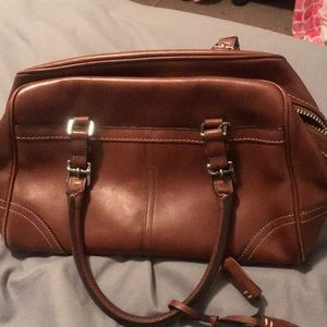 Coach hand bag brown authentic